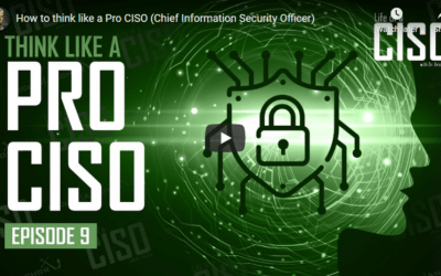 How to Think Like a Pro CISO (Chief Information Security Officer)