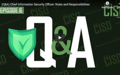 Auto (Q&A) Chief Information Security Officer: Roles and Responsibilities