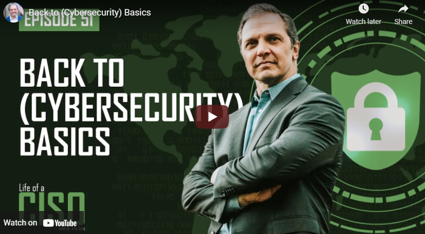 Back to (Cybersecurity) Basics