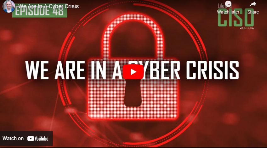 We Are In A Cyber Crisis